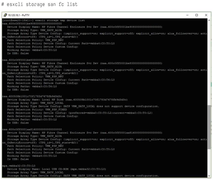 دستور کنسول HPE MSA برای یافتن دستگاههای ذخیره سازی